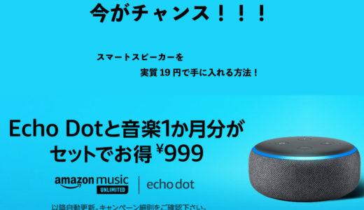 【急げ!!】スマートスピーカーを実質19円で手に入れる方法!